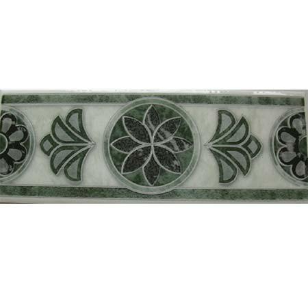 Cristal verde szegő csempe