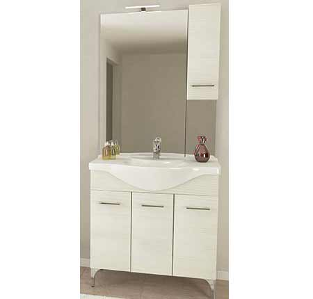 Rubino 85 Bianco alsó szekrény mosdóval